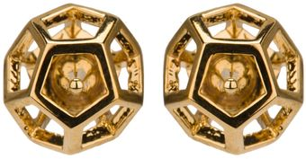 Eddie Borgo Caged Nova Stud Earrings - Lyst