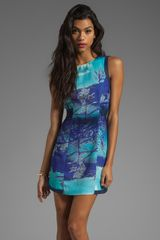 Finders Keepers Let Love Rule Dress in Lake Tahoe Print - Lyst