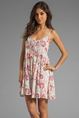 Free People Pintuck Gauze Dress - Lyst