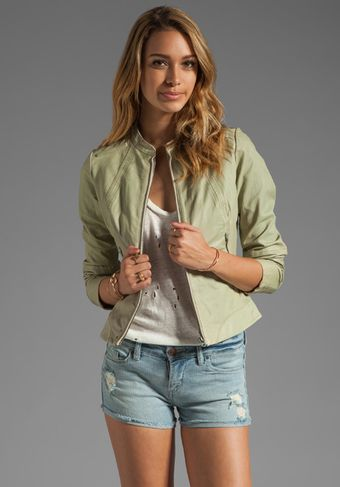G-star Raw Fae Leather Jacket in Dirty White - Lyst