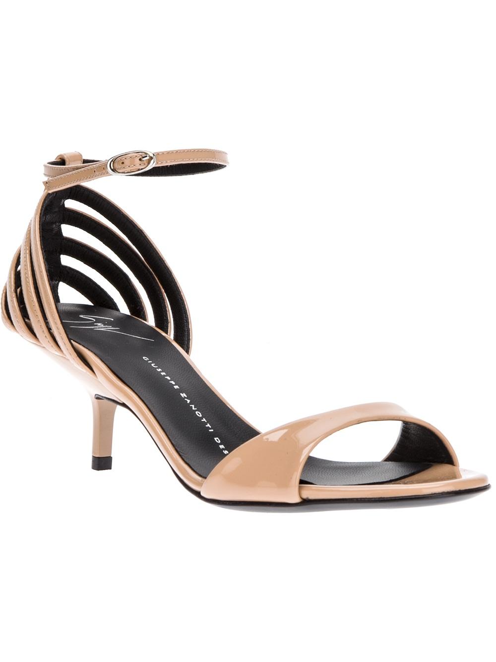 Black sandals 2 inch heel - Mid Heel Ankle Strap Sandals