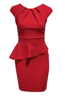 Jane Norman Peplum Dress - Lyst