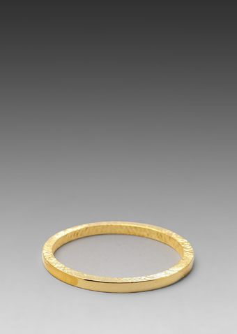 Kenneth Jay Lane Bangle in Metallic Gold - Lyst