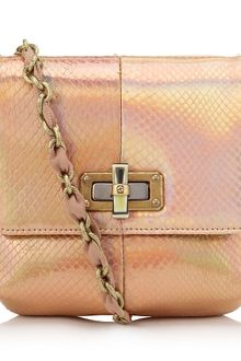 Lanvin Holographic Python Mini Pop Bag - Lyst