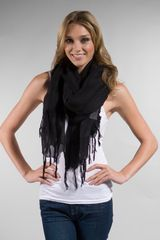 Love Quotes Tassel Scarf - Lyst