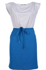 Marc By Marc Jacobs Polka Dot Contrasting Dress - Lyst