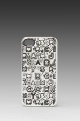 Marc By Marc Jacobs Dreamy Graffiti Phone Case in Silver Multi Metallic - Lyst