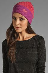 Marc By Marc Jacobs Critter Accessory Striped Beanie - Lyst