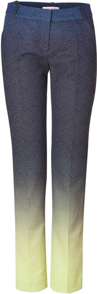 Matthew Williamson Bluelemon Fade Patterned Pants - Lyst