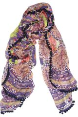 Matthew Williamson Modal and Cashmereblend Bobble Scarf - Lyst
