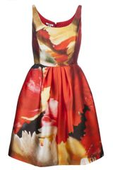 Oscar de la Renta Sleeveless Scuba Dress - Lyst