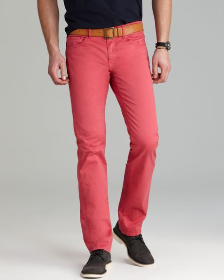 Paige Jeans Federal Skinny Slim Fit In Watermelon In Pink