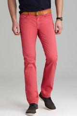 Paige Jeans Federal Skinny Slim Fit in Watermelon - Lyst