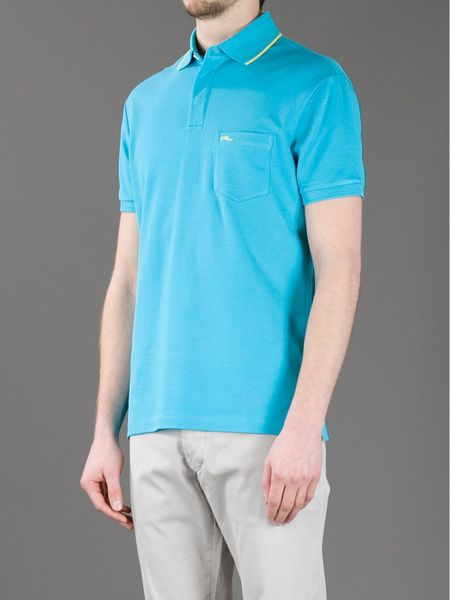 Ralph lauren black label logo polo shirt in blue for men for Ralph lauren black label polo shirt