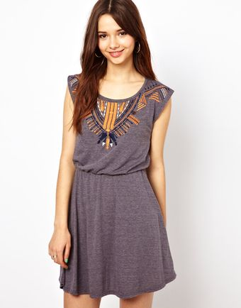 River Island Embroidered Dress - Lyst