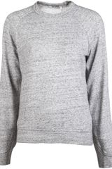 T By Alexander Wang Heathered Sweatshirt - Lyst
