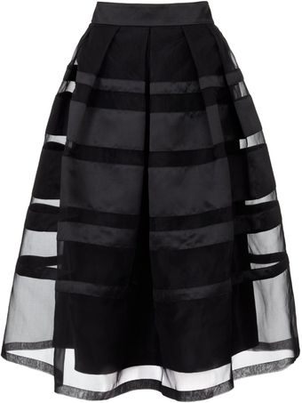 Temperley London Black Satin Freya Ribbon Skirt - Lyst
