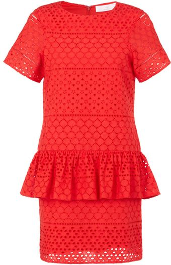 Thakoon Addition Poppy Crochet Peplum Dress - Lyst