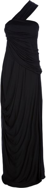 Vionnet Long One Shoulder Dress - Lyst