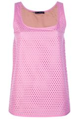 DSquared2 Lazer Cut Heart Tank Top - Lyst