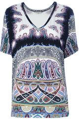 Etro Printed Top - Lyst