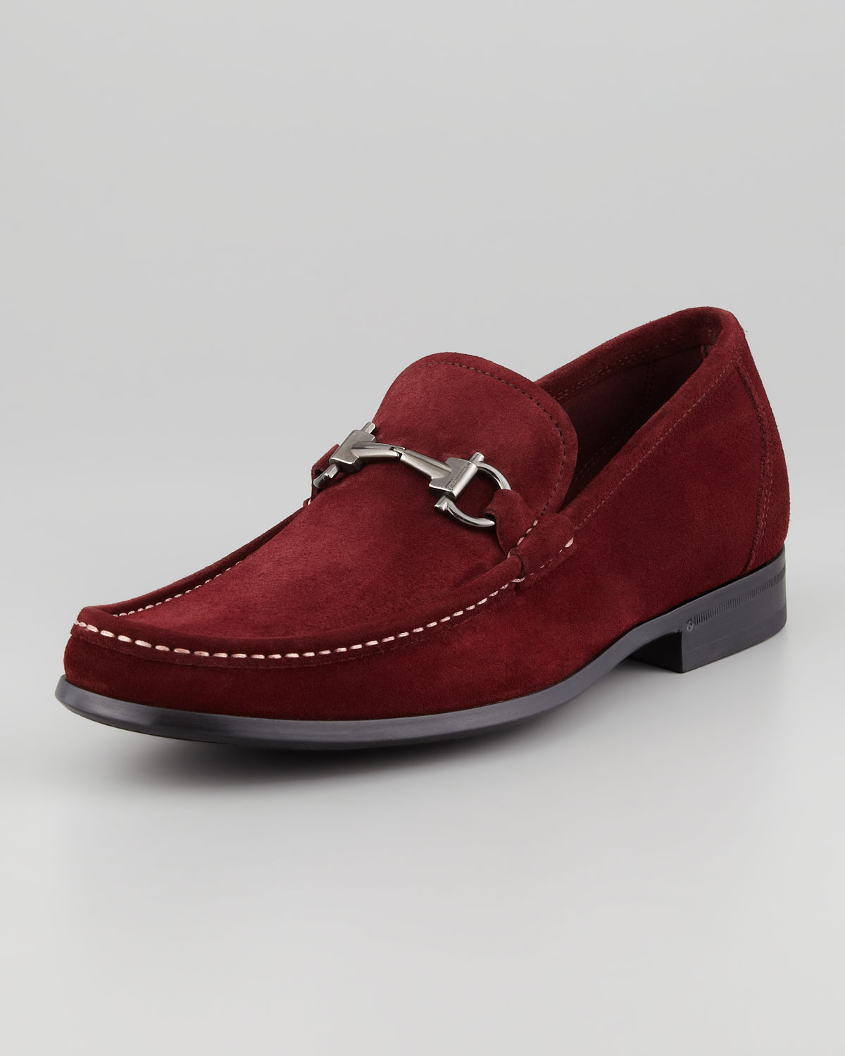 Ferragamo Slip On Shoes Maroon