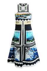 Mary Katrantzou Kathmandu Postage Stamp Print Dress - Lyst