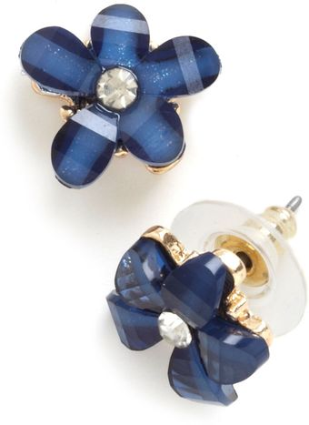ModCloth Blue Belle Blooms Earrings - Lyst