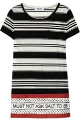 Moschino Cheap & Chic Striped Jersey and Cotton Top - Lyst