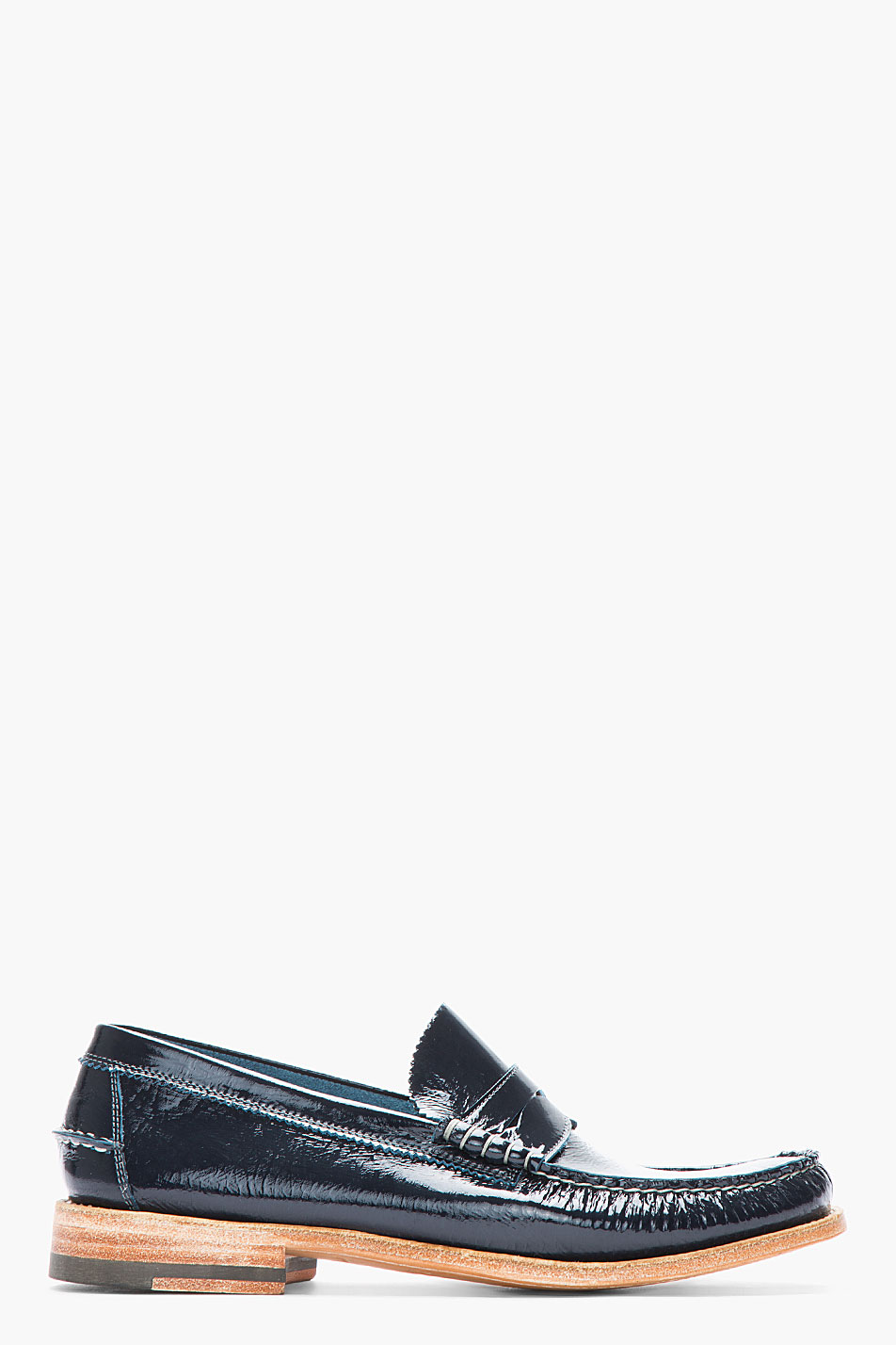 Lyst Ndc Navy Patent Leather Bachelor Luxor Penny
