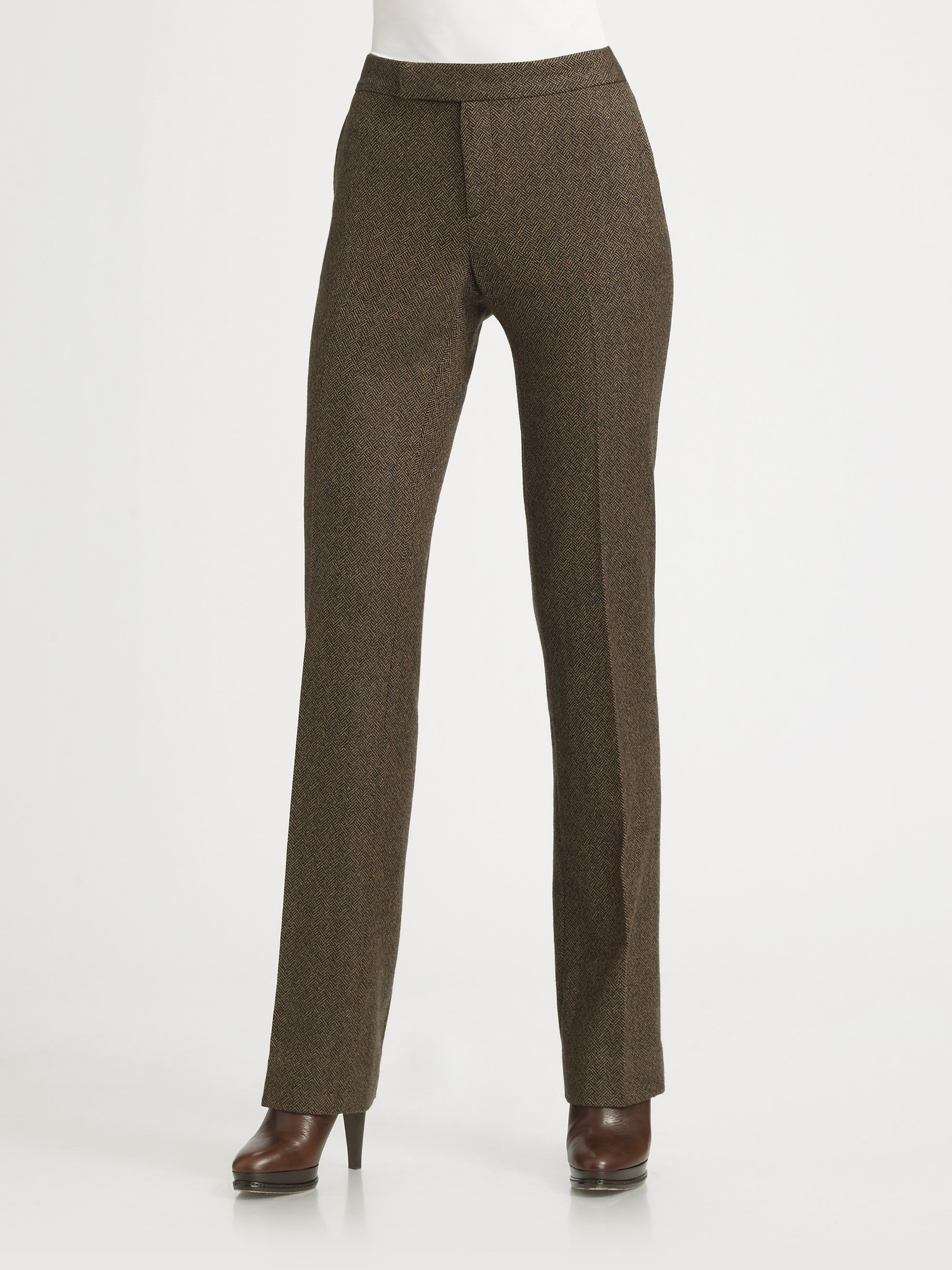 Lyst Ralph Lauren Collection Wool Cashmere Tweed Pants