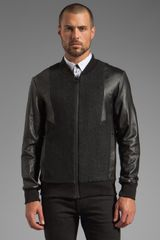 Sons Of Heroes Leather Ziggy Bomber Jacket - Lyst