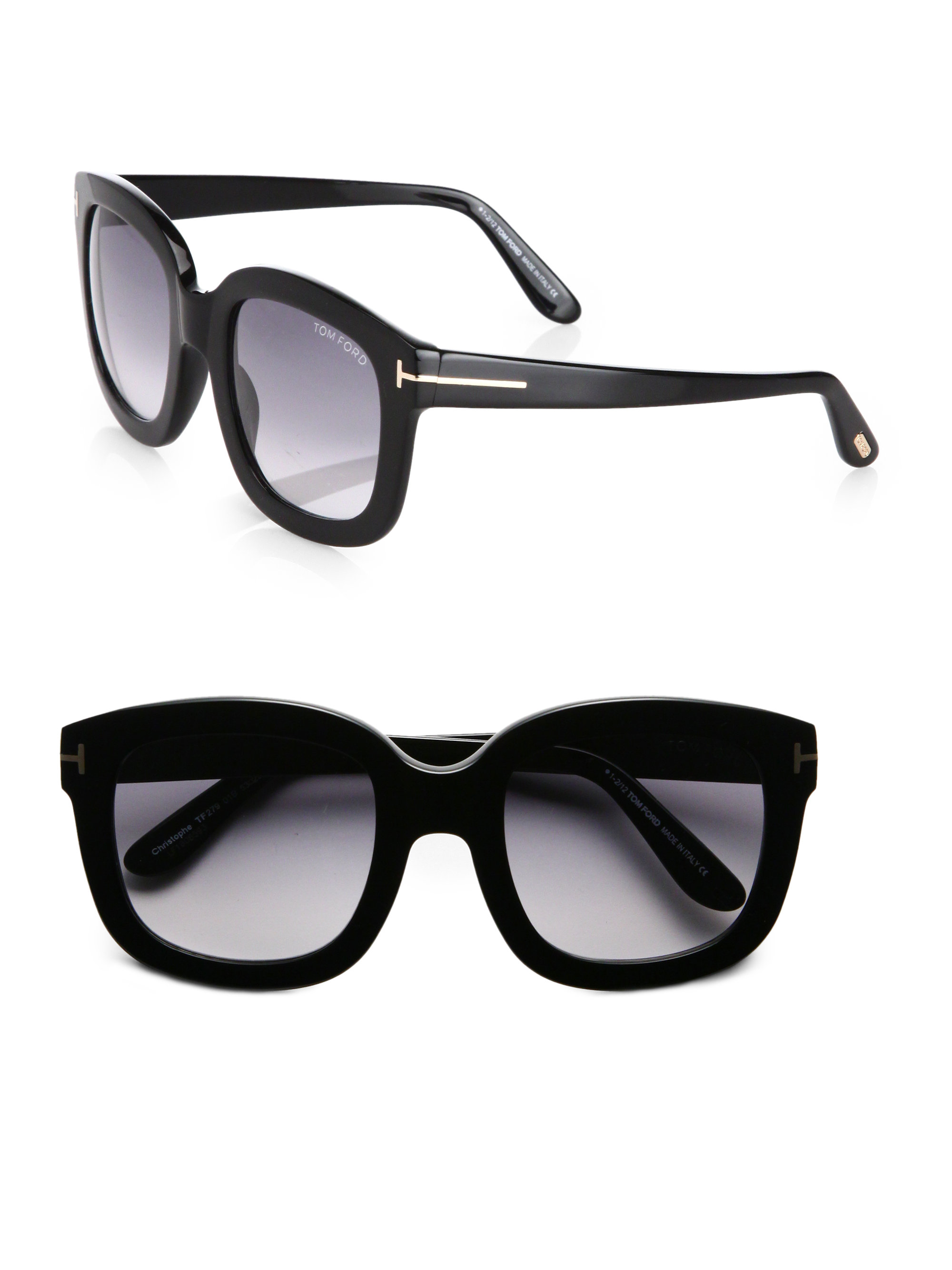 f9f195663119 Lyst - Tom Ford Christophe 53mm Square Sunglasses black in Black