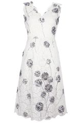 Valentino Printed Lace Dress - Lyst