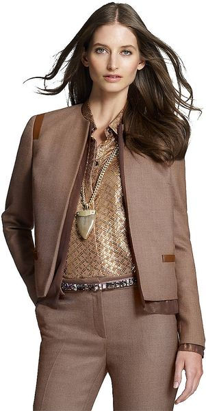 Jones New York Mixed Media Kissing Front Jacket - Lyst