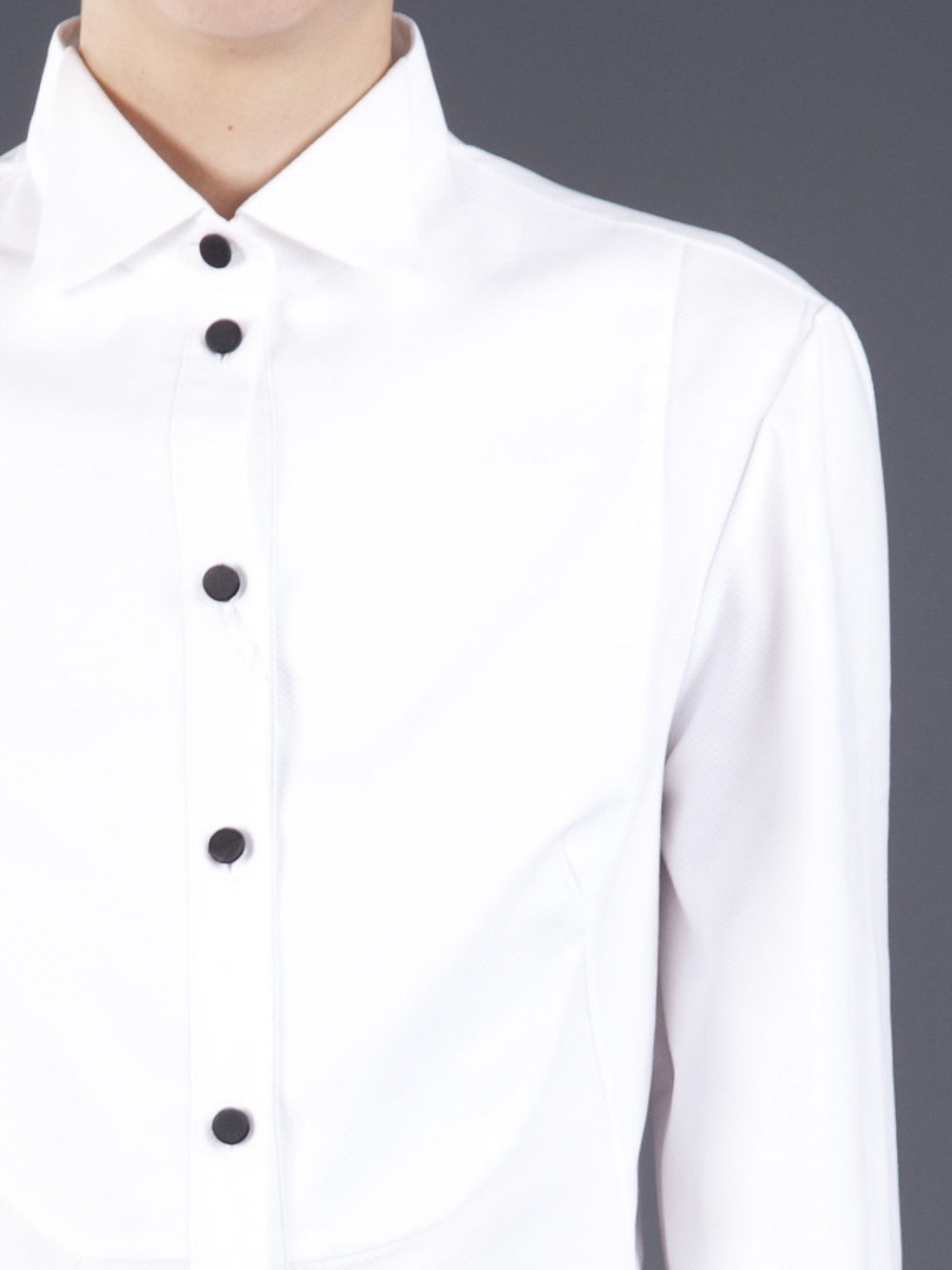 Alexander Mcqueen Tuxedo Shirt Dress In White Lyst