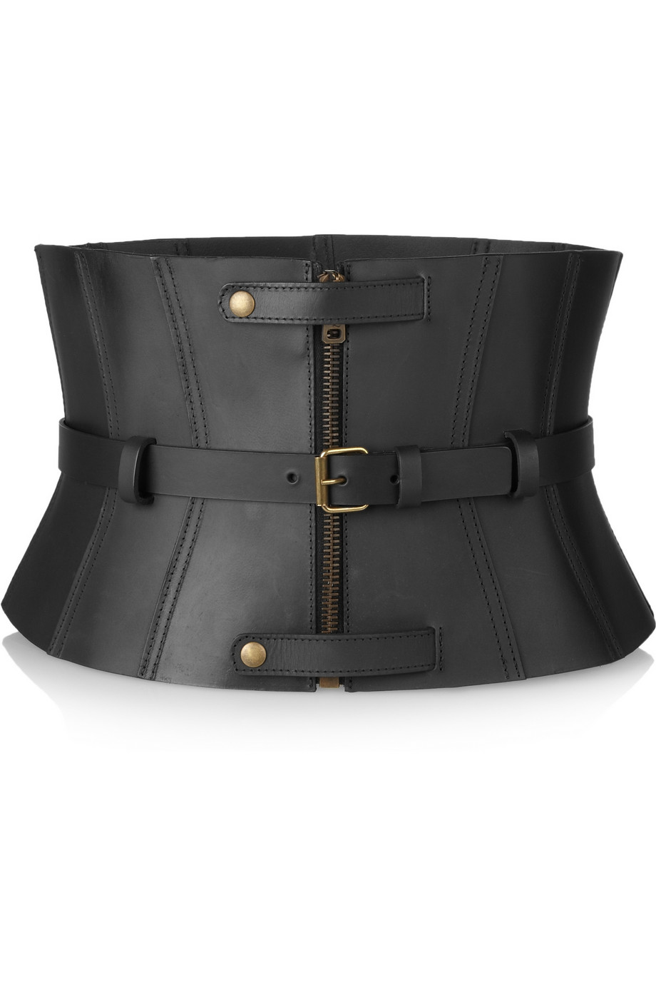 c95a9287ec Lyst - McQ Leather Corset Belt in Black