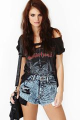 Nasty Gal Damage Control Cutoff Shorts - Lyst