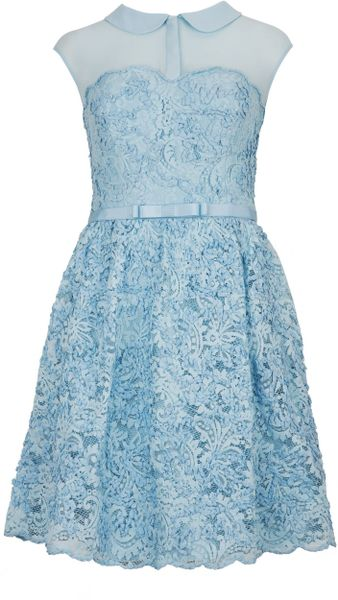 Ted Baker Ranni Lace Belted Dress - Lyst