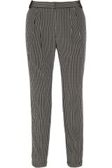 Tibi Striped Silk Crepe De Chine Tapered Pants - Lyst