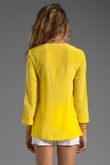 Trina Turk Sunfish Blouse in Sun in Yellow - Lyst