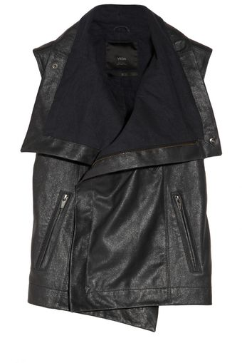 Veda Maxine Metallic Finished Leather Vest - Lyst