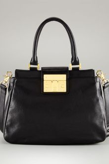 Alexander McQueen Heroine Medium Leather Satchel Bag - Lyst