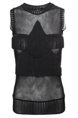 Jean Paul Gaultier Star Tassel Sleeveless Top Black - Lyst