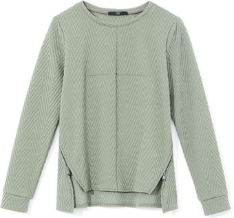 Tibi Quilted Zig Zag Knit Sweater - Lyst