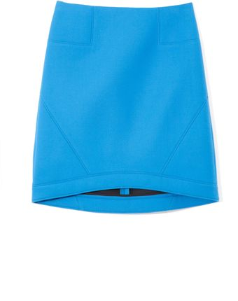 Tibi Ultramarine Bonded Techy Twill Skirt - Lyst