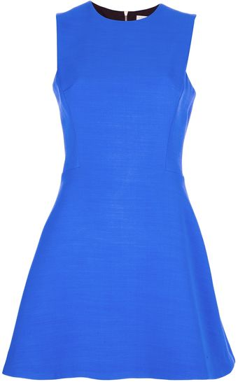 Victoria Beckham Sleeveless Mini Dress - Lyst