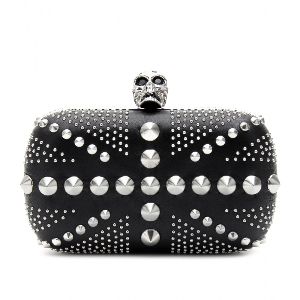 Lyst Union Mcqueen Jack Alexander Embellished Box Skull Studded XzX5RTxrn