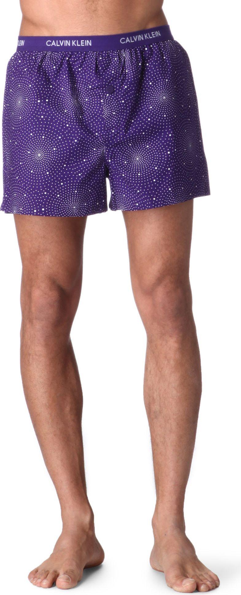 calvin klein woven slim fit boxer shorts in purple for men. Black Bedroom Furniture Sets. Home Design Ideas