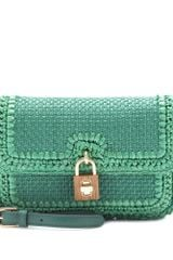 Dolce & Gabbana Raffia Shoulder Bag